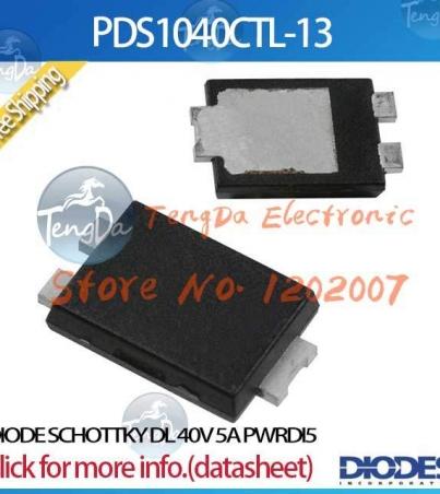 Lot PDS1040CTL-13 DL DIOTE SCHOTTKY 40V 5A PWRDI5 1040 PDS1040CTL PDS1040 [Original import]