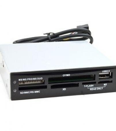 All-in-1 Internal Card Reader - 3.5in. USB 2.0 Embedded Card Reader - Black