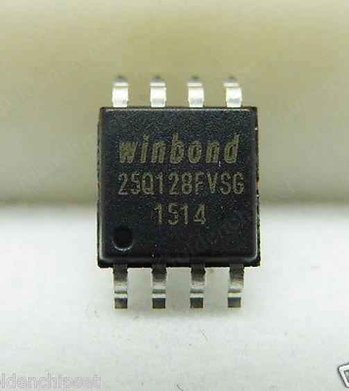 WINBOND 1303 5PCS New Winbond W25Q128FVSIG 25Q128FVSG 25Q128 Flash Memory SPI IC Chip SOP8 See original listing
