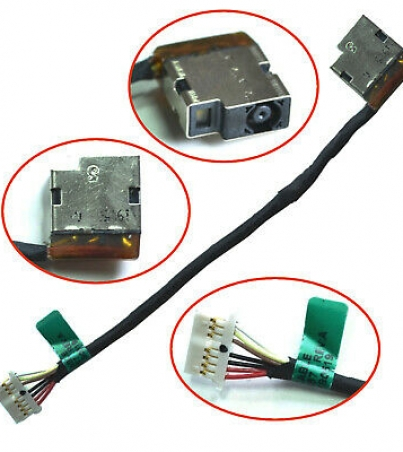 HP 15AC 15AY 255 G4 DC Power Jack Port Socket Harness Charging Connector 799736-S57